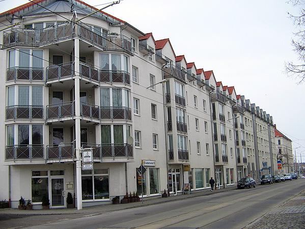 Objekt: Dieskaustr. 136 – 142, Leipzig – Baujahr Gebäude: 1998 – WEG – Verwaltung seit: 2003 – Wohneinheiten: 54 – Sondereigentumsverwaltung: 42